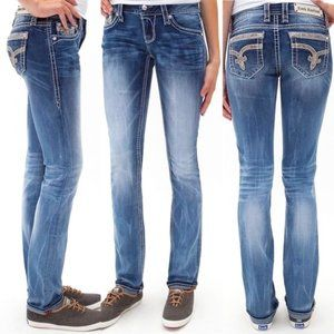 ROCK REVIVAL Nancy Cuffed Straight jeans | 24